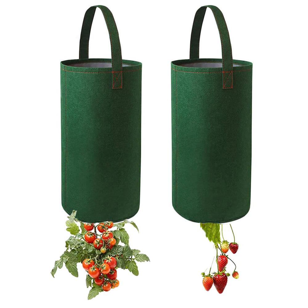 Upside Down Tomato Grow Bags Tomato Strawberry Vegetable Flower Plant Hanging Grow Bags Gardens Planter Planting Pouch