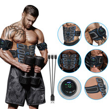 EMS Abdominal Muscle Stimulator Trainer USB Connect Abs Fitness Equipment Training Gear Muscles Electrostimulator Toner Massage(China)