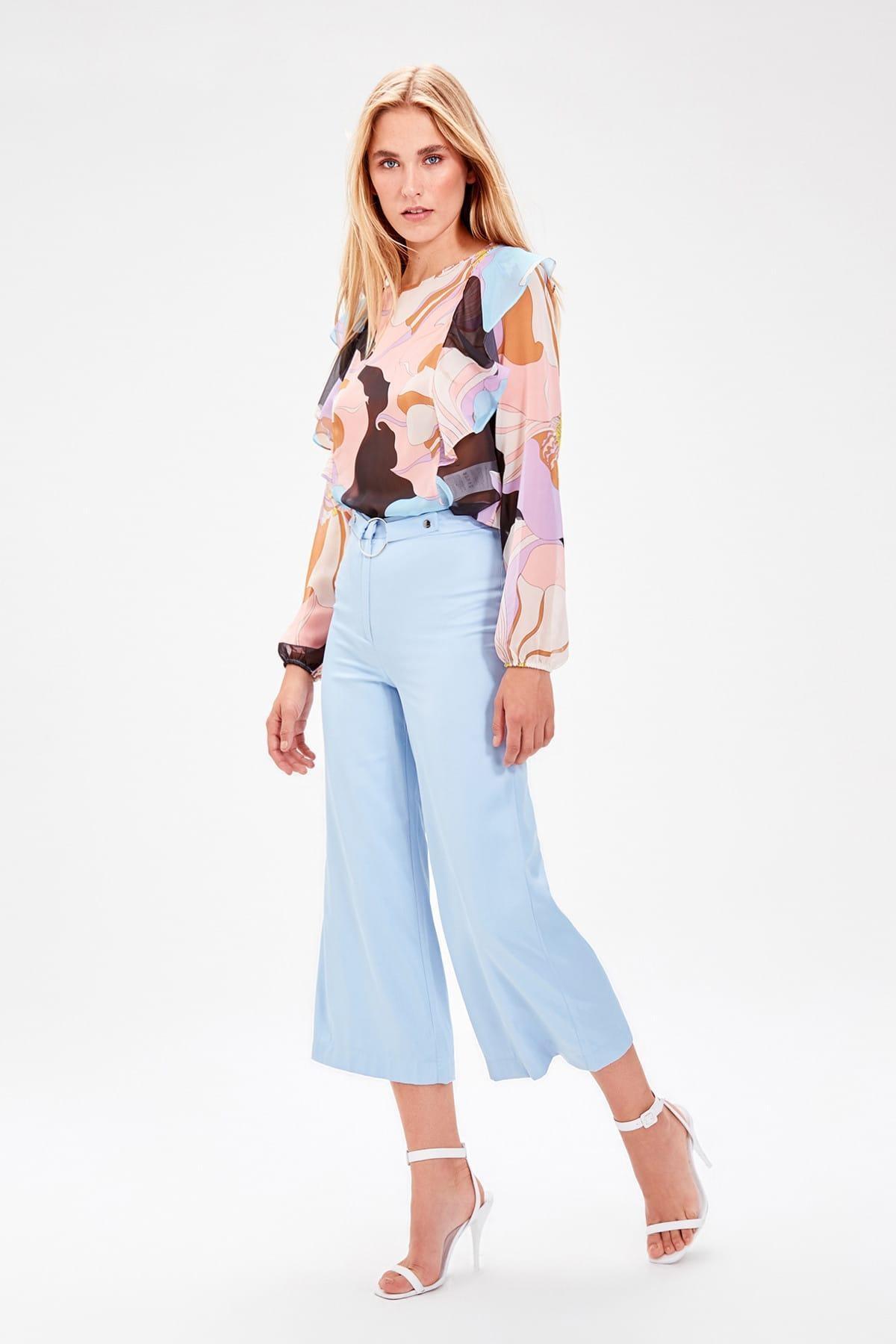 Trendyol Blue Binding Detaylı Pants TWOAW20PL0015