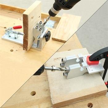 Drill Bit Case | ASCENDAS 4 Hole Drill System Slant Hole Jig Kit Pocket Drilling Bit Woodworking Tool TP-0223