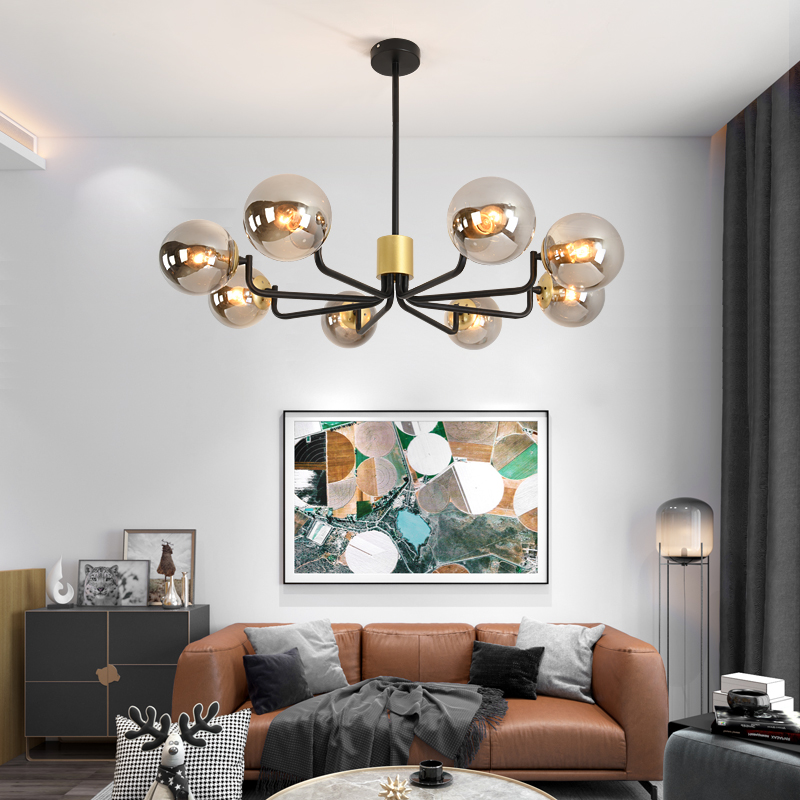 Fss Modern Nordic Chandelier Lighting 4 Color Lights LED Edison 6 Lights Chandeliers Indoor Light Fixtures Bulbs Lamp AC110 220V|Chandeliers|Lights & Lighting - title=