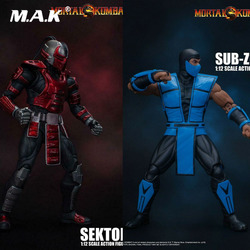 In Stock Storm Toys 1/12 Scale MORTAL KOMBAT Sub-Zero Combat Sektor Movable Figure Action Figure Doll DCMK002/DCMK003