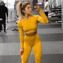 Seamless Yoga Suit 2 piece Sports Shirts Crop Top Leggings Sport Set GYM Camo Suits Tight Workout pants