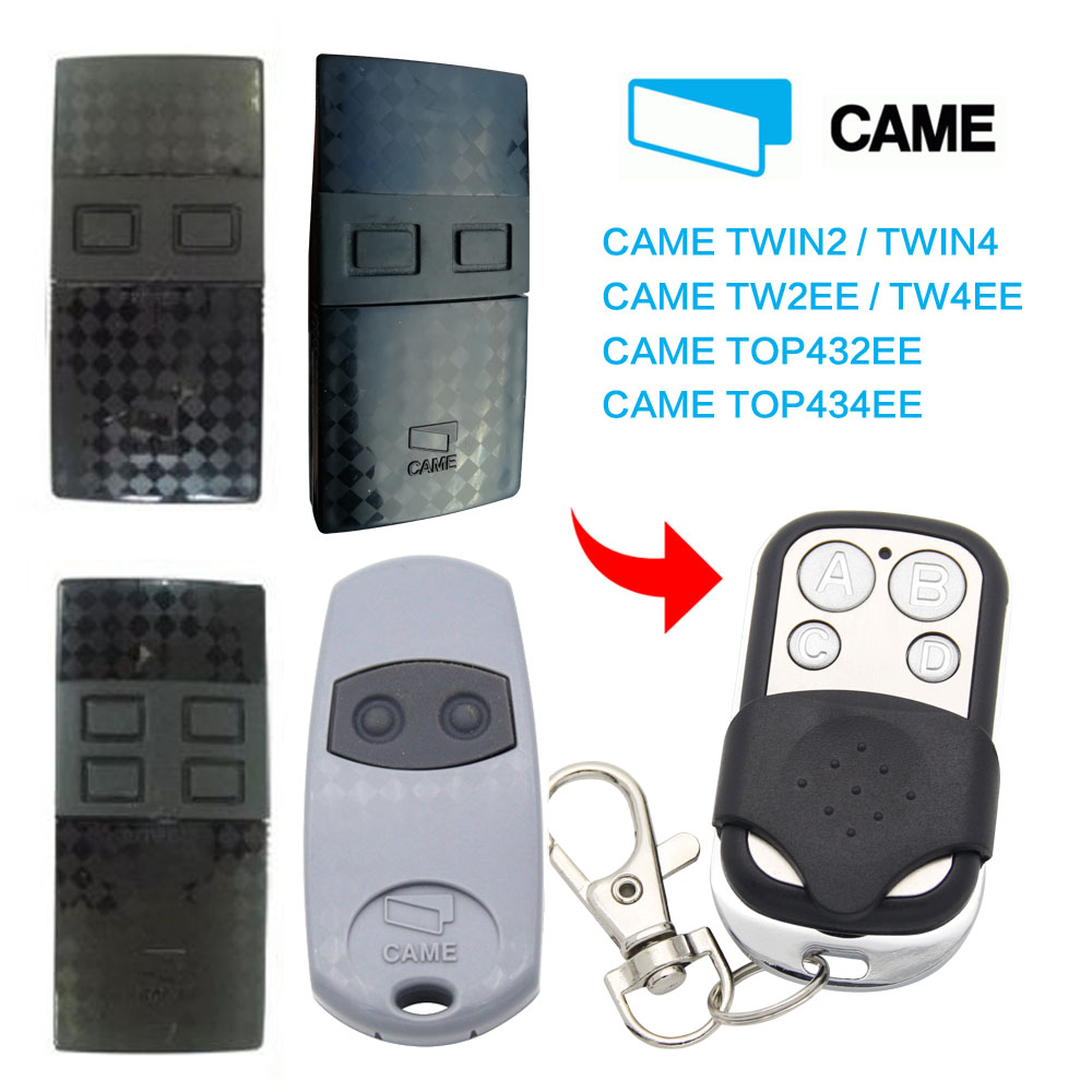 CAME TW2EE TW4EE Remote Control 433.92mhz Transmitter Duplicator Garage Door CAME TWIN2 TWIN4 TOP432EE 433MHz Remote Control
