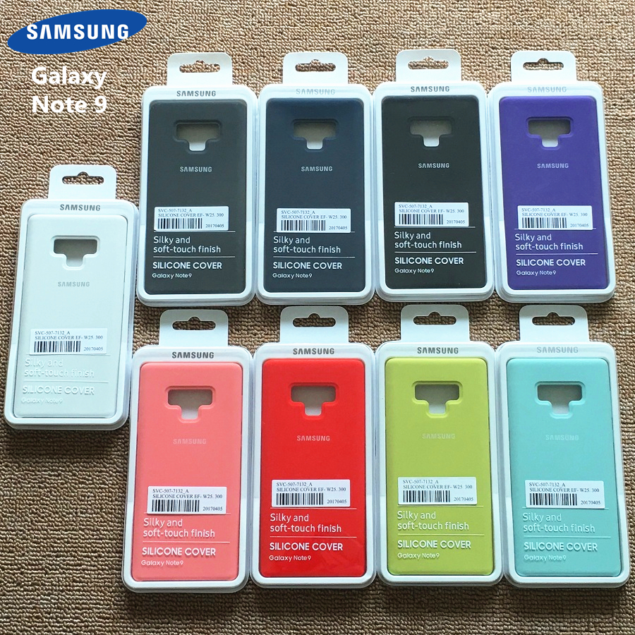 Samsung Galaxy Note 9 Silky Soft-touch Liquid Silicone Shell Cover Original Case for Galaxy Note 9 With Retail Box