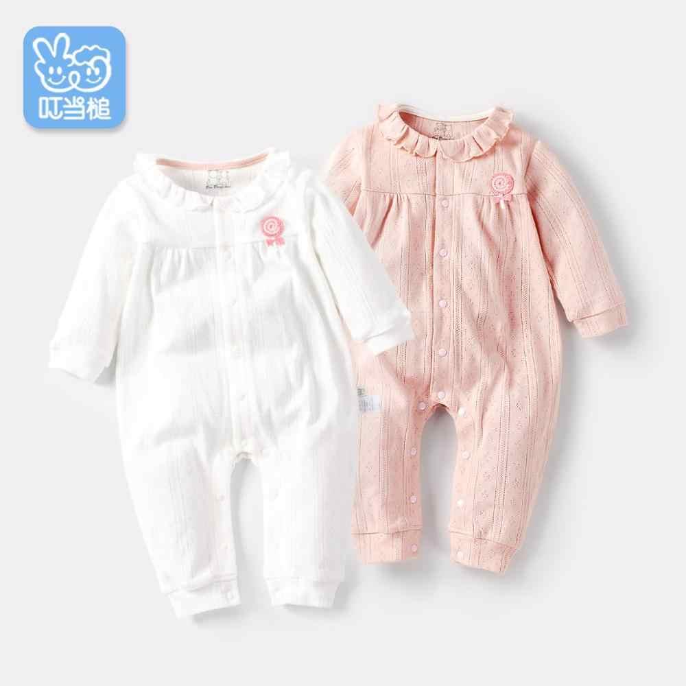 Todder/детская одежда для новорожденных, осенне-зимний хлопковый трикотажный комбинезон с длинными рукавами для малышей 0-12 месяцев