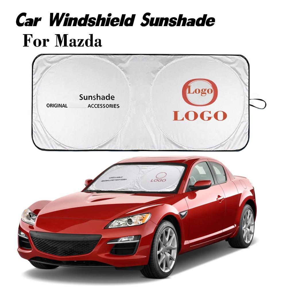 For Mazda Window Shades Emblem Car Windshield Sun Visor Cover Block Protector Driving Sunshade Logo for Mazda MX5 Miata RX8 626