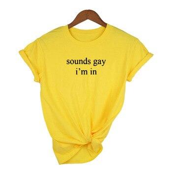 Sounds Gay I'm In Lgbt Women shirt Love Win Casual Shirts Rainbow Print Lesbian Love Is Love Female 90s T-shirt Top Tee harajuku 8