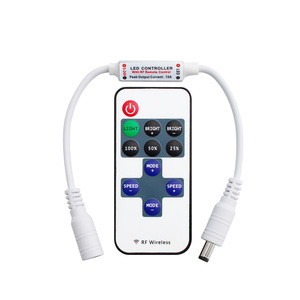 Image 2 - 12 24 فولت 11 مفاتيح RF LED قطاع تحكم عن بعد باهتة صغيرة RF تيار مستمر 5 فولت 12 فولت 24 فولت led تحكم عن بعد ل LED 5050 2835 قطاع واحد