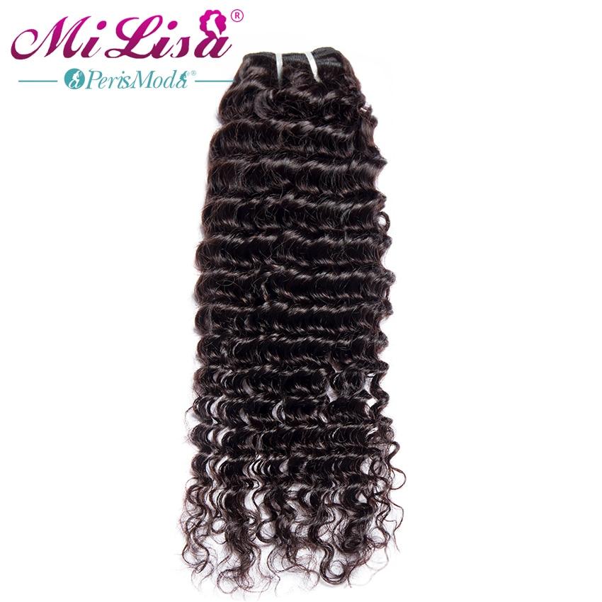 Deep Wave Bundles Brazilian Hair Weave Bundles 3 / 4 Pcs 10-28 Inches 100% Human Hair Bundle Deal Remy Mi Lisa Hair Extensions