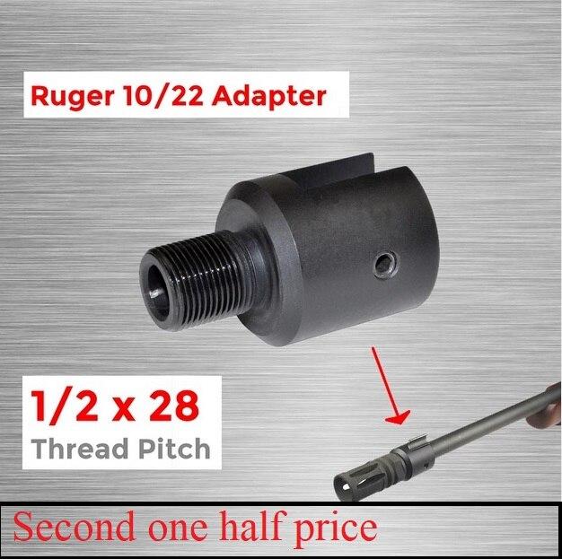 Tactical Gun Accessory Barrel End Threaded Adapter 1/2x28 For Ruger 10/22 Thread Adaptor CNC Muzzle Barrel Adapter1 VI05080