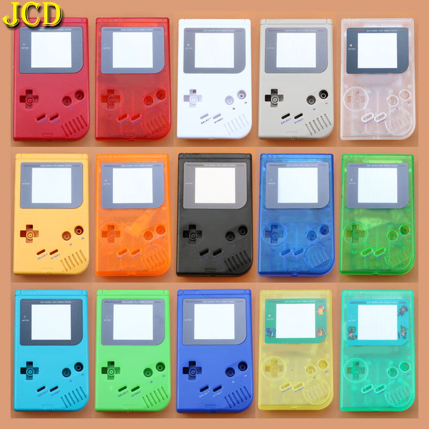 JCD 1PCS 15 Color For GameBoy Classic Game Replacement Plastic Shell Cover for Nintend <font><b>GB</b></font> Console DIY Full Housing for <font><b>GB</b></font> <font><b>Case</b></font> image