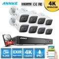 Annke 4 k ultra hd 8ch dvr kit h.265 cctv câmera sistema de segurança 8mp cctv sistema ir visão noturna ao ar livre kits de vigilância por vídeo