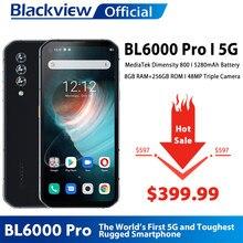 los teléfonos móviles Blackview-teléfono inteligente BL6000 Pro, versión Global, 5G, IP68, Triple CÁMARA DE 48MP, 8GB RAM, 256GB ROM, 6,36 pulgadas