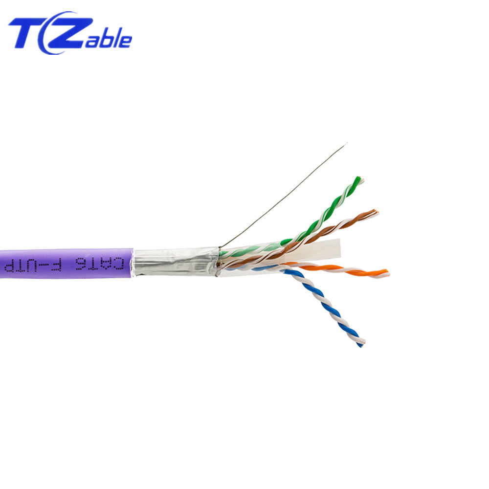 Cat6 cobre puro de Cable blindado par trenzado Cable de red Ethernet FTP cables de ordenador Cable para Internet Cable RJ45 red 15 m