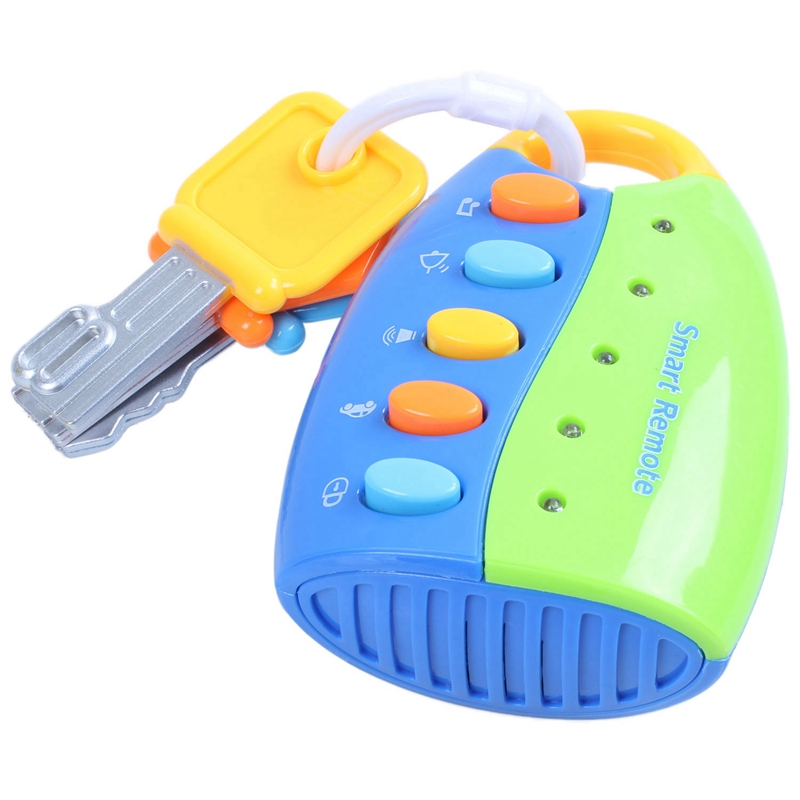 Cartoon Baby Kids Musical Smart Remote Car Key Toy Car Voices Education Toys
