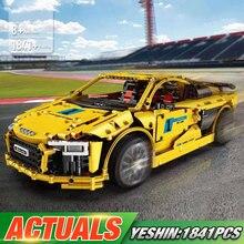 Technic автомобиль совместим с Legoing MOC-4463 Audis R8 V10 второго поколения модель автомобиля строительные блоки детские рождественские игрушки, подарки