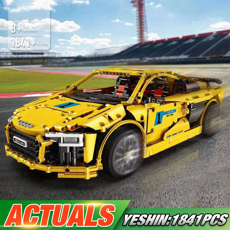Technic Car Compatible With Lepining MOC-4463 Audis R8 V10 Second Generation Car Model Building Blocks Kids Christmas Toys Gifts