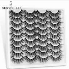 SEXYSHEEP 5/10/18 Pairs False Mink Eyelashes Natural Thick Fake Lashes Handmade Soft Eyelashes Makeup Eyelashes Extension