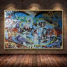 Hd скандинавский плакат с граффити картина маслом холст постеры