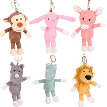Ciekawe zabawki pluszowe breloki 2019 gorąca sprzedaż plecak akcesoria śliczne zabawki pluszowe zwierzęta miękkie nadziewane zwierzęta lalki prezent 8 26 tanie i dobre opinie 0-10 cm Pp bawełna Zwierzęta i Natura 5-7 lat