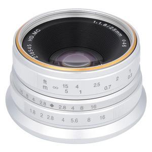 Image 5 - 7 장인 25mm F1.8 소니 E A5000 A5100 A6300 A6500 용 수동 초점 렌즈 Olympus M4/3 마운트 용 후지 FX 용 캐논 EOS M 용