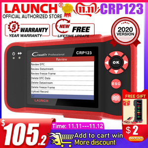 Image 1 - Launch Creader Crp123 OBD 2 diagnostic tool For ABS/SRS/GearBox/Engine System OBD2 Code Reader Launch crp123 PK NT650 Creade 8