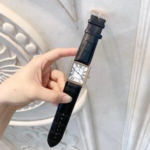 Image 5 - Offre spéciale relogio masculino luxe femmes/homme montre mode femmes reloj hombre robe montres décontracté rectangle en cuir amant montre