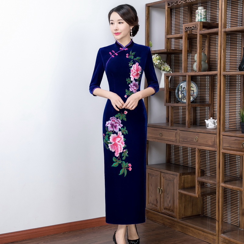 Improvement Of New Fund Of 2018 Autumn Winters Is Mother Pack High-grade Cheongsam Skirt Restoring Ancient Ways
