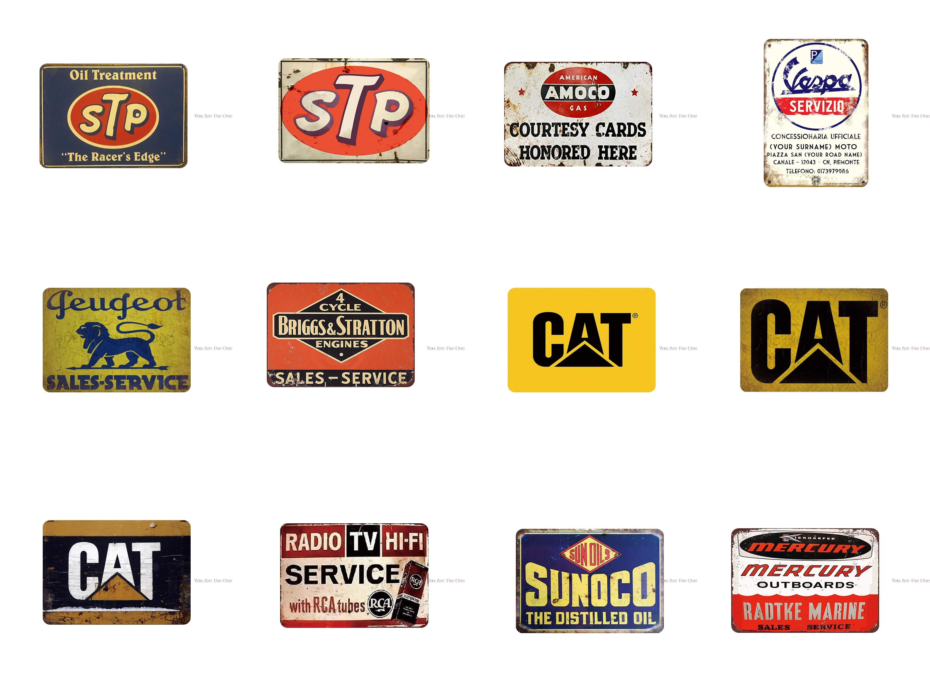 Shabby Metal Tin Signs Stp Oil Treatment motor oil Gat Vintage Garage Plaque Iron Painting For Oils and Gas Station Wall Decor