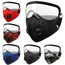 Valves antibuée pour la Protection des yeux, Protection respiratoire extérieure, masque facial avec Protection oculaire, filtre à charbon actif Pm2.5