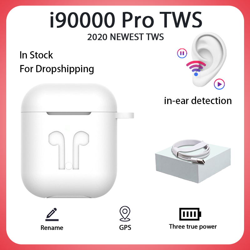 Original i90000 pro tws in-ear mini blutooth fone de ouvido 9d super baixo sem fio fone pk i9000 tws i200 i500 i99999 max