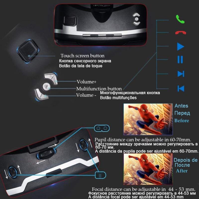 VR Shinecon 3 D Casque Viar 3D Glasses Virtual Reality Headset Helmet Goggles Augmented Lenses for Phone Smartphone Binoculars 2