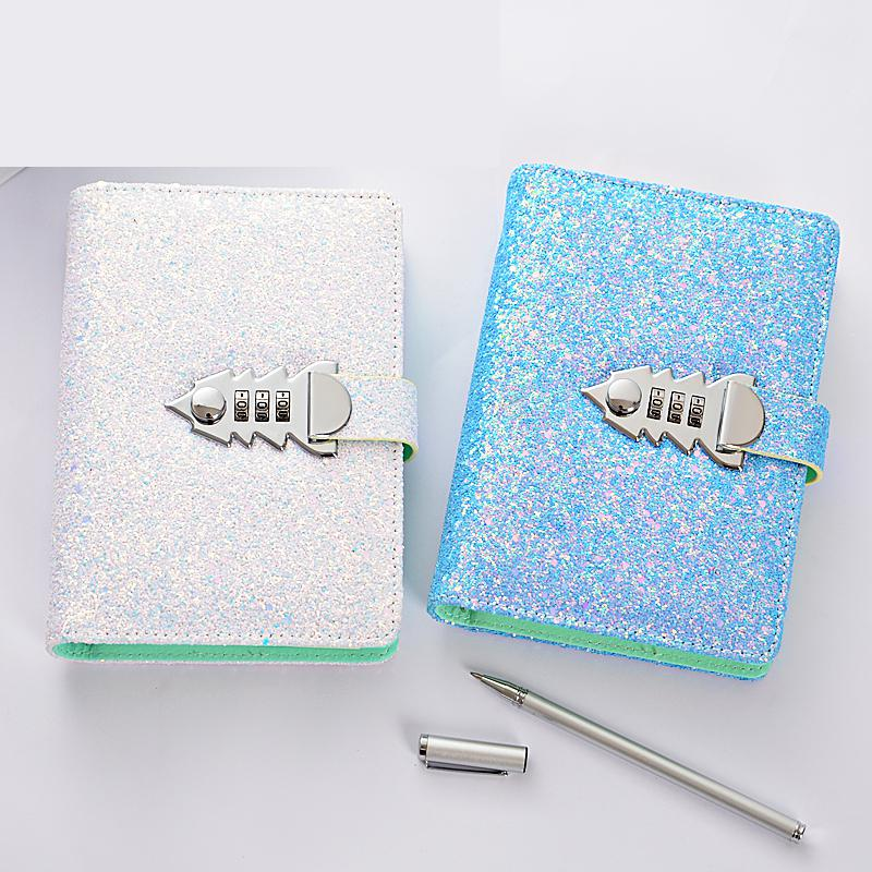 A6 Planner Binder Spiral Notebooks And Journals Password Agenda Diary With Lock Note Book For School Office Supplies Stationery