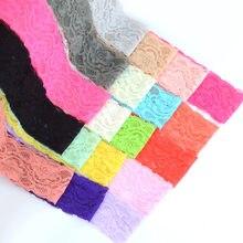 5 metros/lote 5cm 2 polegada elástico macio malha fita de renda para artesanato artesanal suprimentos diy vestuário costura tecido guarnição do laço