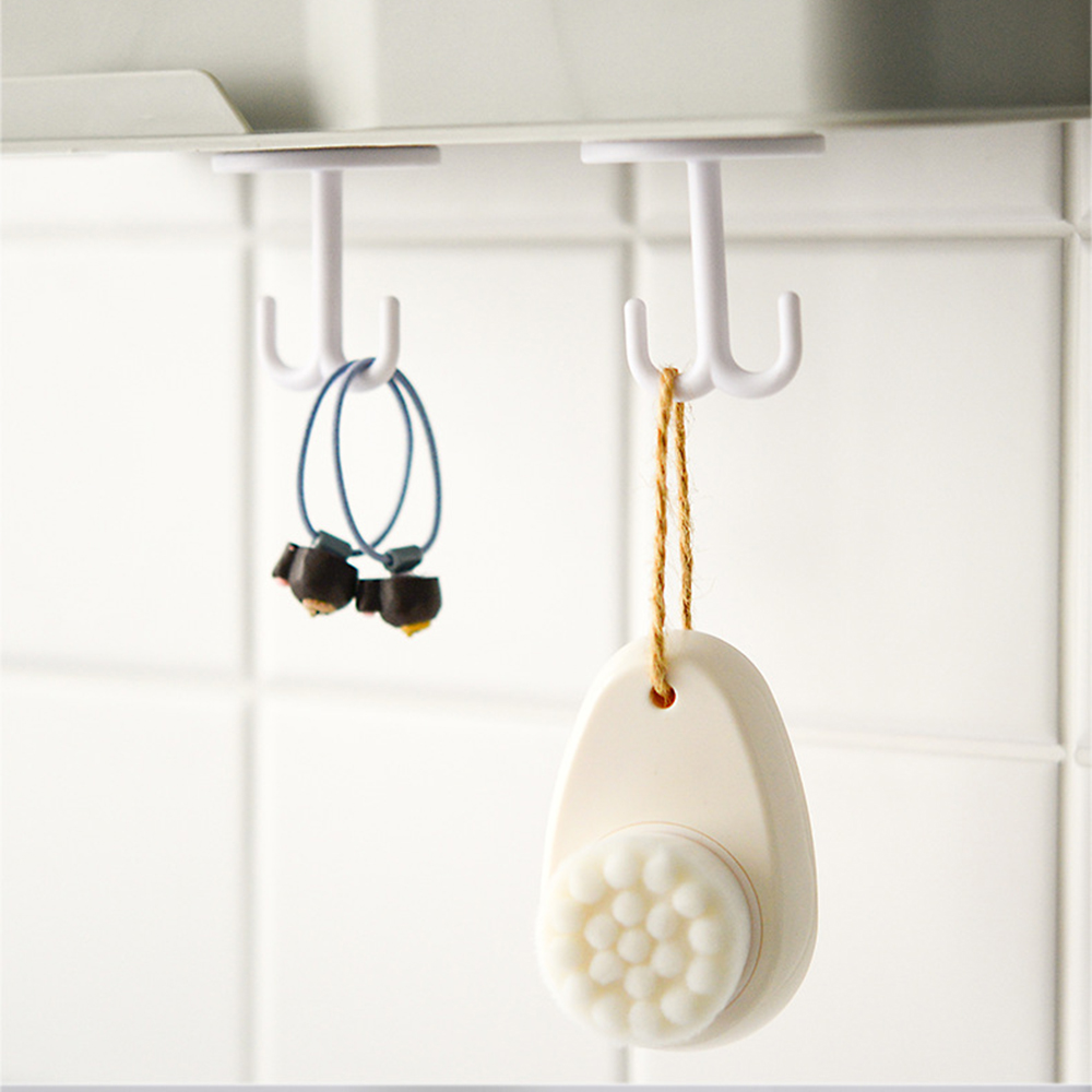 New Useful Cute Key Hook Free Punching Seamless Multifunctional Hooks For Kitchen Living Room Closet Table Bottom