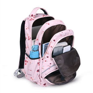 Image 3 - حقيبة ظهر مدرسية للأطفال بتصميم كوري من Fengdong حقيبة كتب للأطفال حقائب مدرسية للبنات حقيبة ظهر للكمبيوتر المحمول مقاومة للمياه حقيبة ظهر للإناث