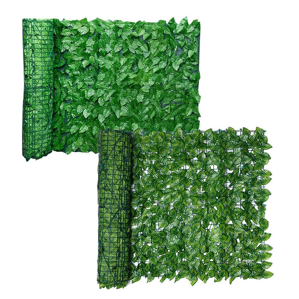 Floralcraft Artificial Ivy Leaf Hedge Roll Plastic Privacy Fence Screening 1m High X 3m Length Green Amazon Co Uk Garden Outdoors
