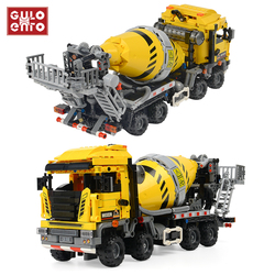 1143pcs City Cement Mixer Engineering Truck Buiding Blocks Construction Vehicle Car Bricks Kids DIY Toys Children Gifts