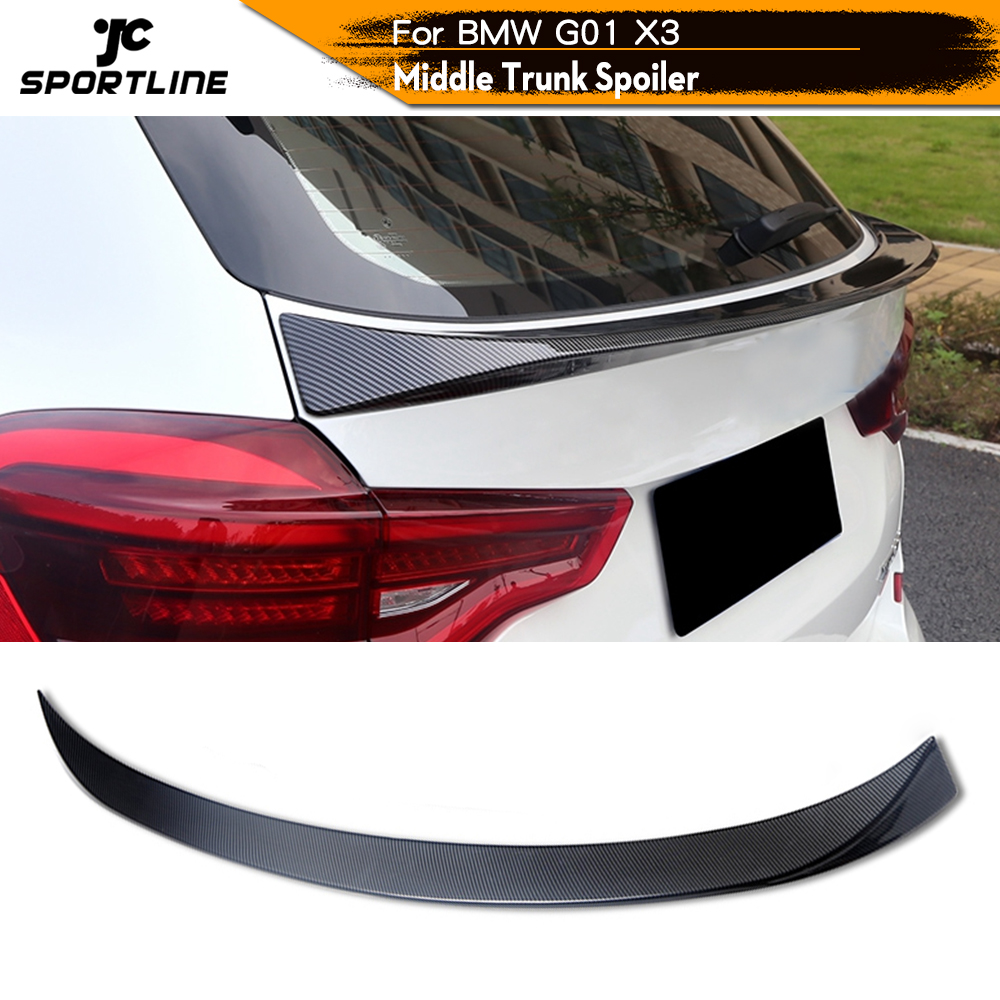 ABS Glossy Black Carbon Look Rear Roof Spoiler Boot Lip Wing For <font><b>BMW</b></font> <font><b>X3</b></font> <font><b>G01</b></font> <font><b>2018</b></font> - 2020 image
