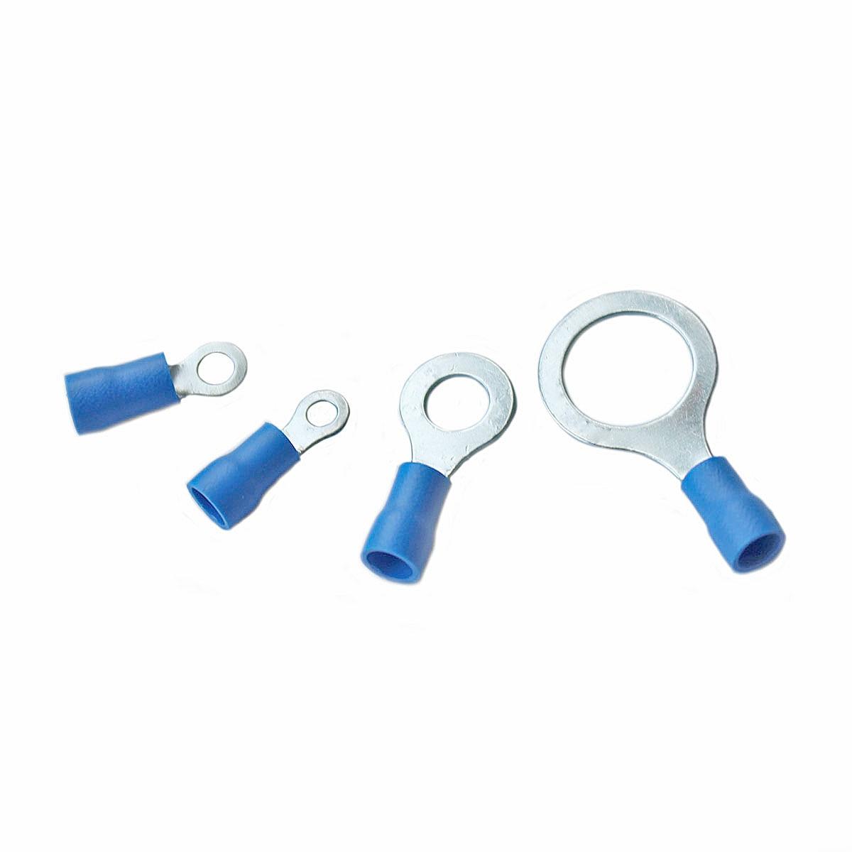 10/25/50/100 шт RV2 1,5-2,5 мм изолированные синий кольцу клемы провод кабель электрические соединители 16-14 AWG комплект M3/M4/M5/M6/M8