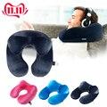 Almohada de viaje en forma de U para avión almohada inflable para el cuello accesorios de viaje 4 colores almohadas cómodas para dormir textiles para el hogar