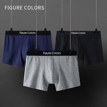 Boxer Cotton Trunk Underpant Convex-Pouch Breathable Man And Mens Low-Waist Figurecolors