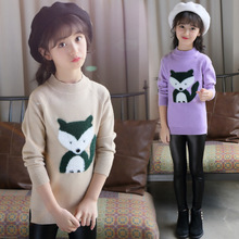 цена на Brands Baby Girls Sweaters Winter 2019 New Girl Long Sleeve Knitted Clothes Kids Autumn Cartoon Fox Sweater for Girls