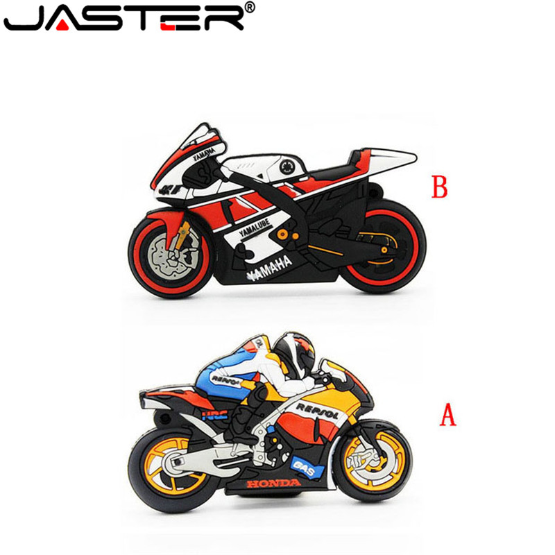 JASTER Motorcycle U Disk Pen Drive Keychain Gift Pen Drive 8gb 16gb 32gb 64gb Moto Car Cartoon Usb Flash Drive Autobike Pendrive