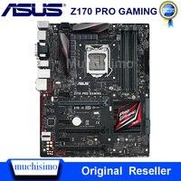 Asus z170 pro 게임용 데스크탑 마더 보드 z170 소켓 lga 1151 코어 i7 i5 i3 ddr4 64g usb3.0 m.2 atx 오리지널 메인 보드 사용