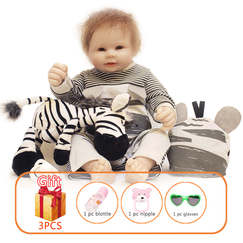 20 inch Whole Silicone Reborn Baby Doll Simulation Soft Rubber Baby Handmade Lifelike Real Dolls Toys