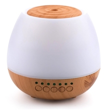 400Ml Wood Grain Air Humidifier Purifier Ultrasonic Mute Aromatherapy Machine Intelligent Diffuser Mist Maker for Home