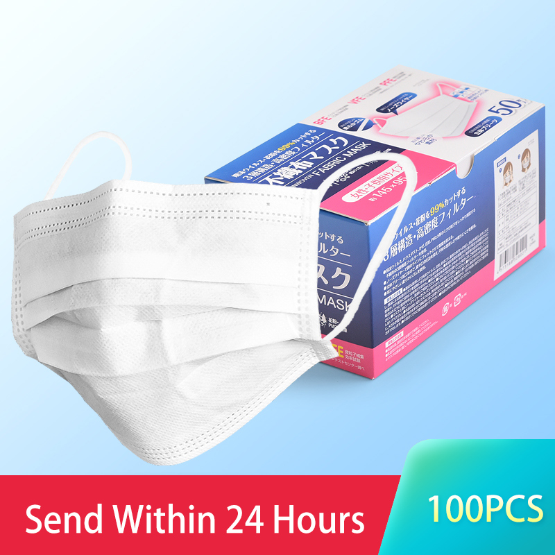 Japan White Protection Masks Women Breathe 3-floors Filter Face Mouth Mask Office Safety Outdoor Masks