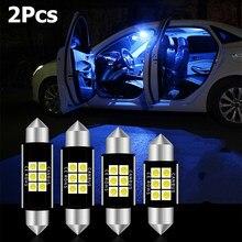 2 pces festoon 3030 smd lâmpadas led c5w c10w 31mm 36mm 39mm 41mm brilhante super carro dome luz auto leitura interior canbus nenhum erro